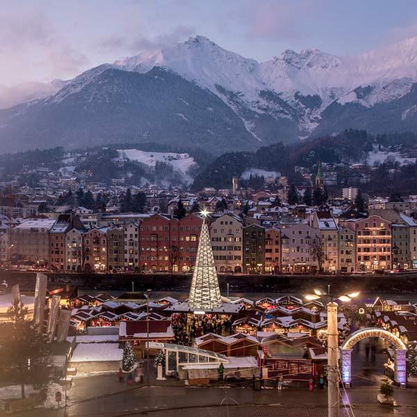 Happy Christmas holiday in the Stubai Valley Tyrol Austria